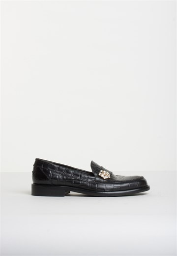 BUKELA - PATTY MOKKASIN - CROCCO BLACK